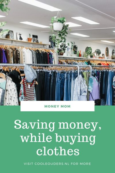 Saving money while buying clothes