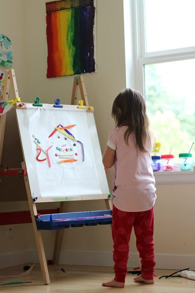DIY early learning sticky wall