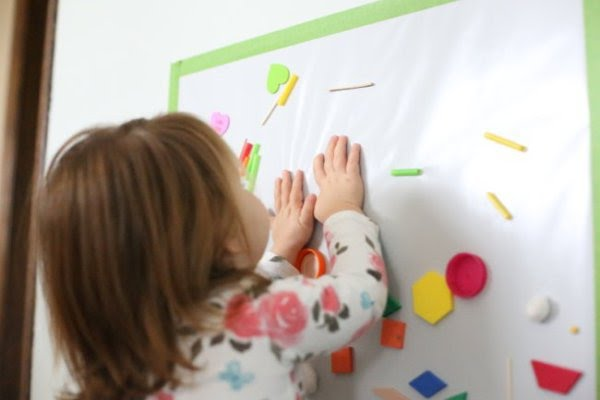 sticky wall early learning diy